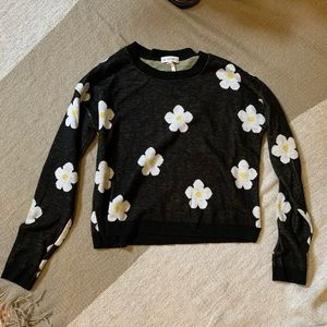 LA Hearts daisy cropped sweater